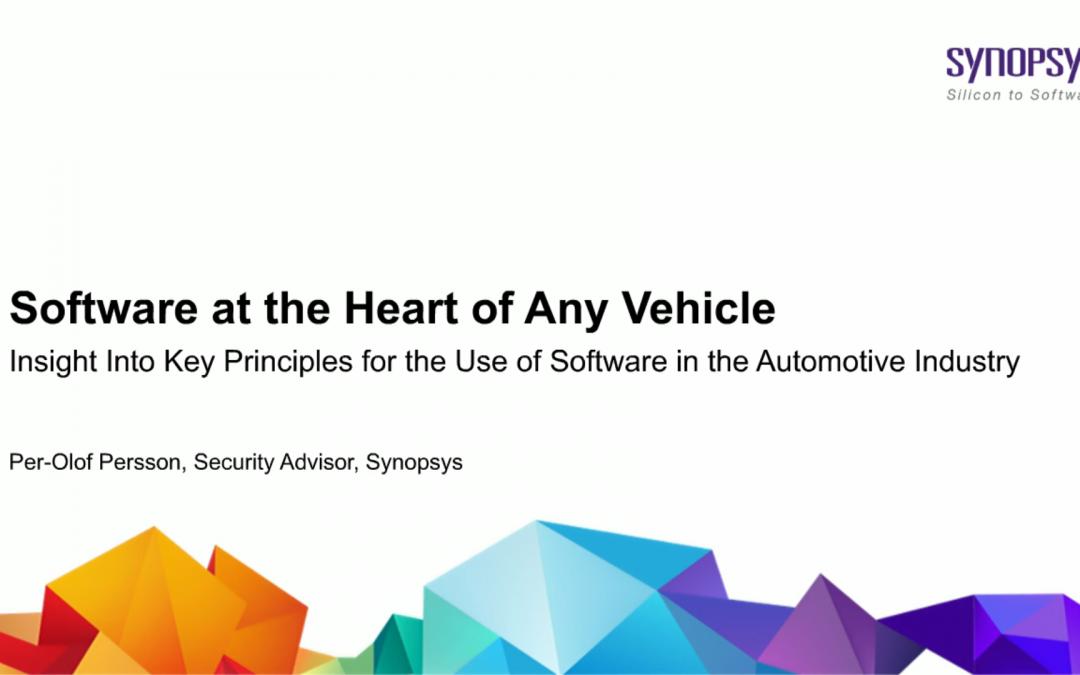 Software no coração de qualquer veículo