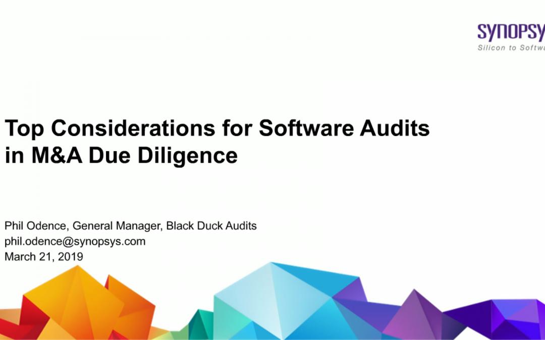 Considerações crucias para auditoria de software e diligência M&A