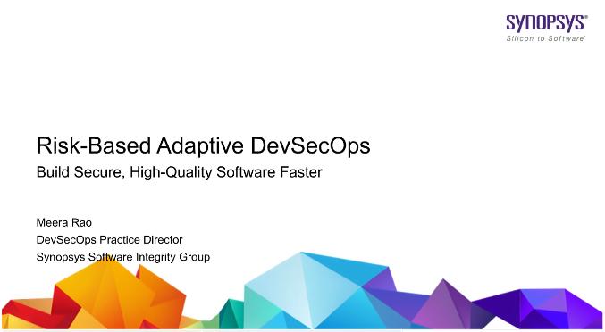Risk-Based Adaptive DevSecOps