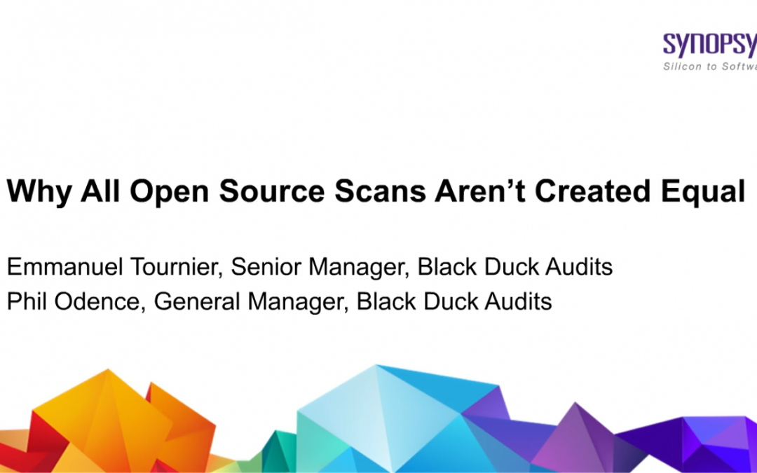 Why All Open Source Scans Aren't Created Equal